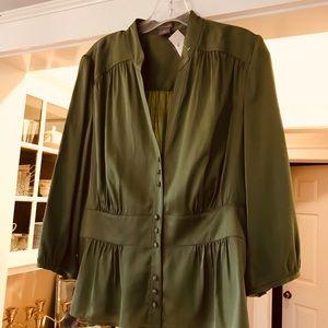 Ann Taylor olive dress shirt